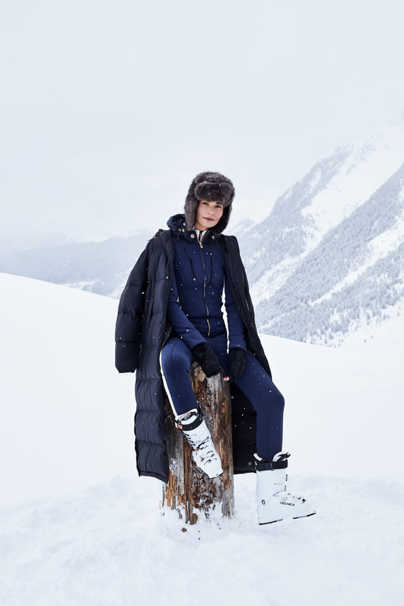 skiwear, ski, fashion, bogner, mountain, winter, outdoor, snow, location, sandra mira, fashion photography,